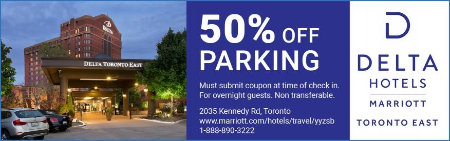 50% Off Parking
