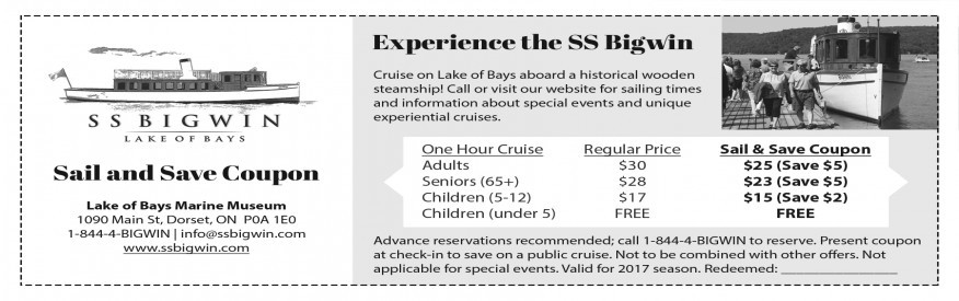 SS Bigwin Cruise - Sail & Save coupon