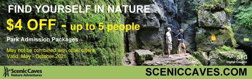 Scenic Caves Nature Adventures Coupon - $4 off