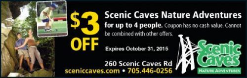 Scenic Caves Nature Adventures Coupon - $3 off