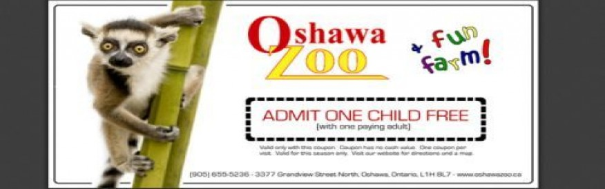 Oshawa Zoo Coupon - Admit 1 Child Free!