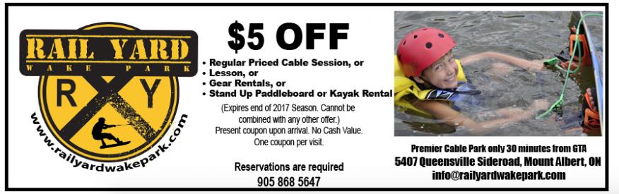 Rail Yard Wake Park - $5 off