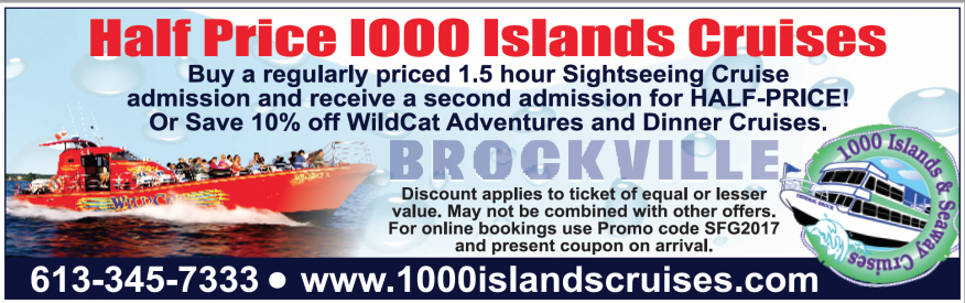 1000 Islands & Seaway Cruises Coupon - save 10%