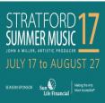 Stratford Summer Music- July 16-Aug 26, 2018
