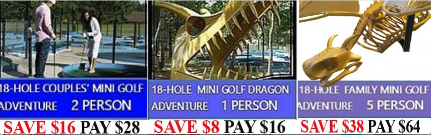 Dinosaur Valley Mini Golf Coupon - 3 options to save with coupon
