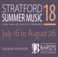 Stratford Summer Music- July 16-Aug 26, 2018