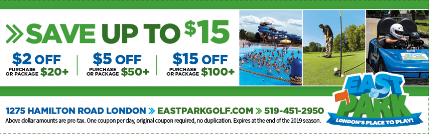 East Park Coupon Choose One Of These Great Offers