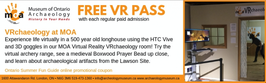 Museum of Ontario Archaeology Coupon - Free VR pass with paid admission