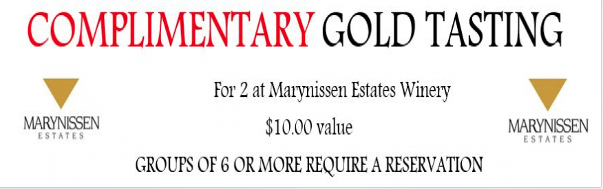 Marynissen - Compimentary Gold Tasting