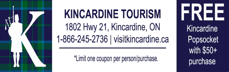 Kincardine tourism- Popsocket with $50. purchase
