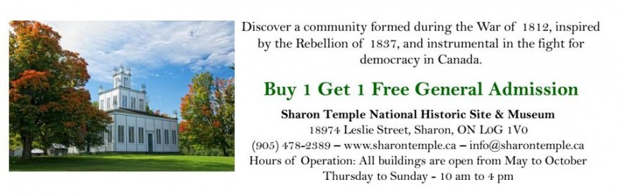 Sharon Temple - Buy 1, Get 1 FREE Admission