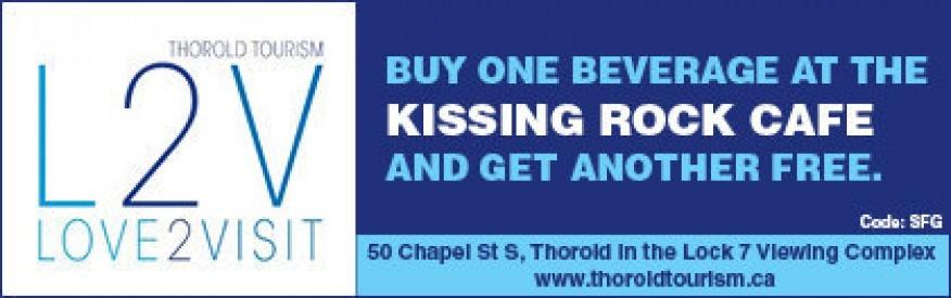 Thorold Tourism Coupon - buy 1 beverage, get 1 free