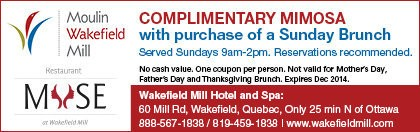 Wakefield Mill Hotel coupon - Complimentary Mimosa