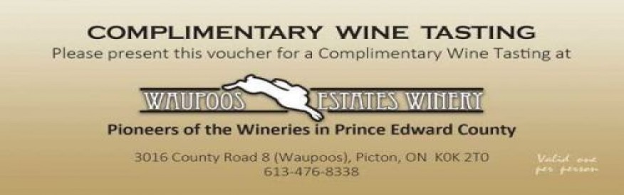 Waupoos winery coupon - Free Tasting