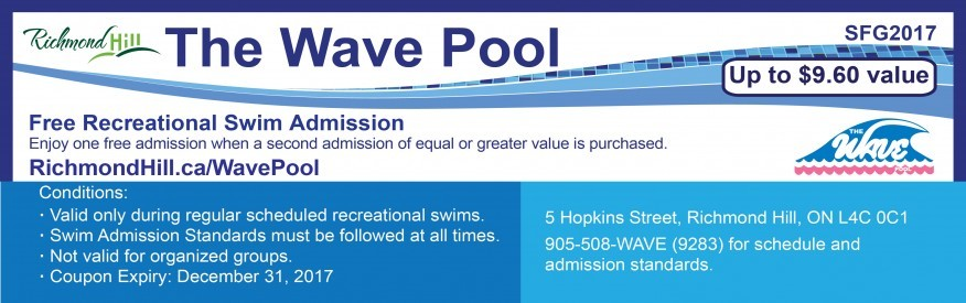 Wave Pool Coupon - FREE admission