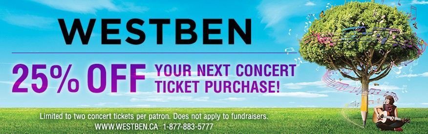 Westben - 20% OFF concert ticket
