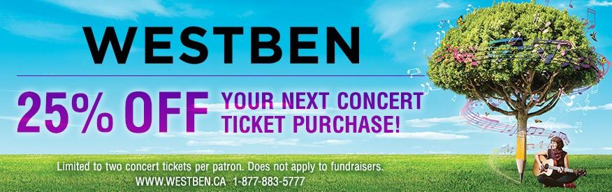 Westben - 20% OFF concert ticket