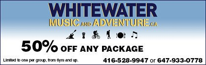Whitewater Music & Adventure Coupon
