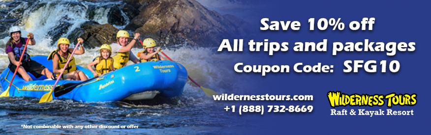 Wilderness Tours Rafting and Kayaking Resort Coupon - 10% off prgms