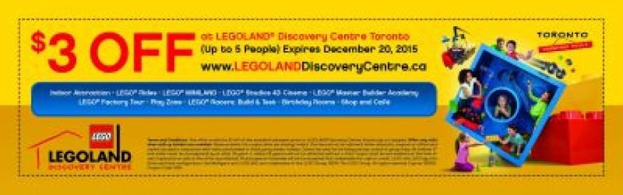 LEGOLAND Discovery Centre Coupon - $3 off