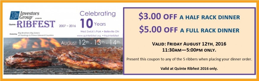 $3 or $5 OFF a Rib dinner!