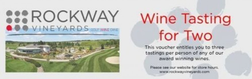 Rockway Vineyards Coupon - Free Wine Tasting for 2