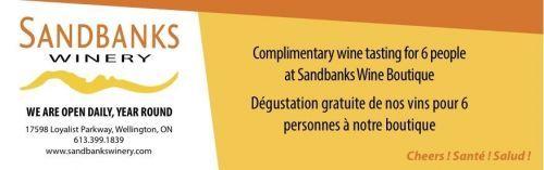 Sandbanks Winery Coupon - Free wine tasting