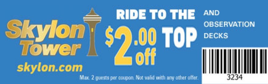 Skylon Tower Coupon - $2 OFF
