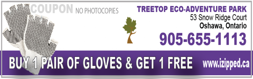Treetop Eco Adventure Park coupon - Free Gloves